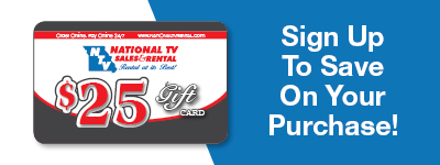 Sign up and Save with National TV Rentals and Sales