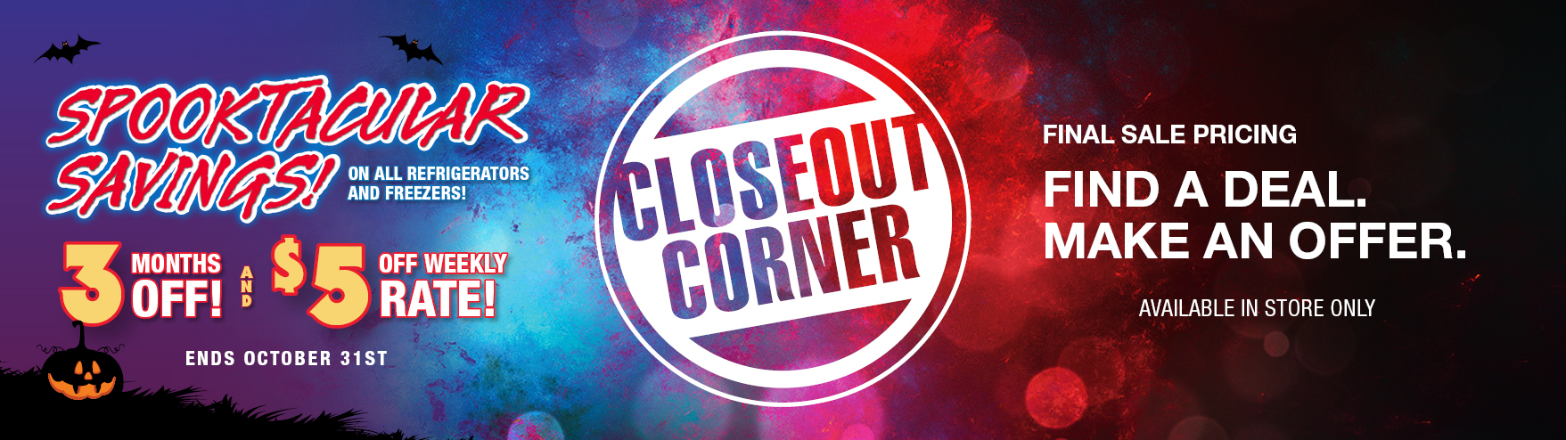 Limited Time Closeout Deals